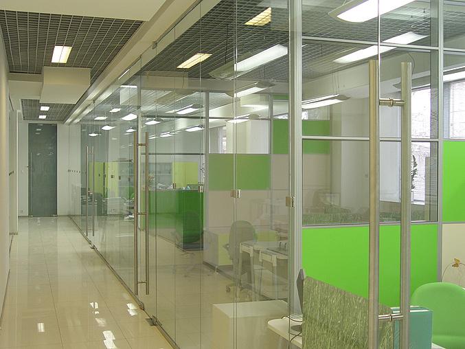 Производство стеклянных перегородок