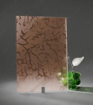 Узорчатое стекло «Айс бронза»