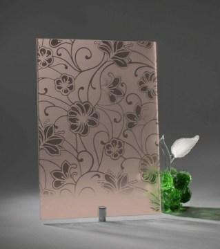 Узорчатое стекло «Виола бронза»