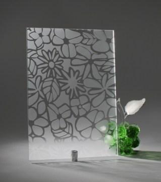 Узорчатое стекло «Цветы БЦ»