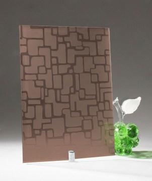 Узорчатое стекло «Армани бронза»