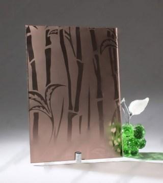 Узорчатое стекло «Бамбук бронза»