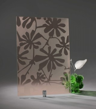 Узорчатое стекло «Шефлера бронза»
